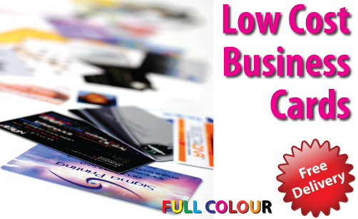 Business card printing 400gsm business cards full colour low cost business card printing reheart Choice Image